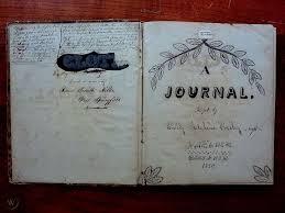 CIRCA 1850-1851 HANDWRITTEN DIARY 130 SHEETS AMERICAN YOUNG WOMAN VICTORIAN  MASS | #1809043616