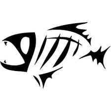 Amazon Com Fish Bone Skeleton Bait Fishing Sportsman Car Truck Windows Decor Decal Sticker Die Cut Vinyl Decal For Windows Cars Trucks Tool Boxes Laptops Macbook Virtually Any Hard Smooth Surface