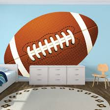 Large Football Wallpaper Graphic Large Football Wall Adhesive Boys Room Football Wall Decor Kids Sports Decals Football Wallpaper Sports Wall Decals Wall Decals For Bedroom