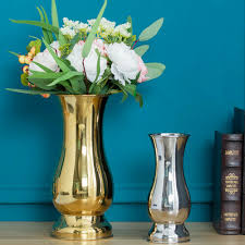 silver plated luxury vase urn on stand