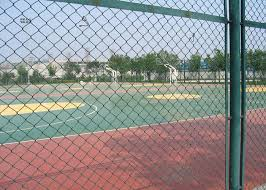 Green Plastic Coated Chain Link Fencing Low Carbon Steel Wire Material