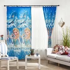 Popular Cute Children Curtain Frozen Printing Curtain Kids Room Fabric Kids Curtains Frozen Pattern Curtains
