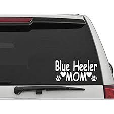Amazon Com Decals Usa Blue Heeler Mom Decal Sticker For Car And Truck Windows And Laptops Automotive
