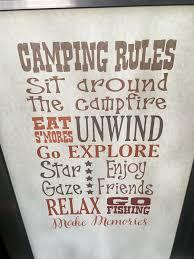 Camping Rules Subway Art Printed Vinyl Decal