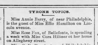 Rose Fox visits Cora Hiltner 5 Aug 1891 - Newspapers.com