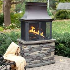 bond wood burning outdoor fireplace