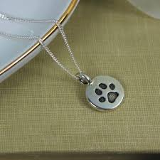 cat paw or dog paw charm necklace