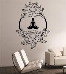 Lotus Wall Decal Meditation Sticker Art Decor Bedroom Design Etsy Master Bedroom Wall Art Amazon Wall Art Sticker Wall Art