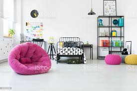 Pink Pouf In Kids Room Stock Photo Download Image Now Istock