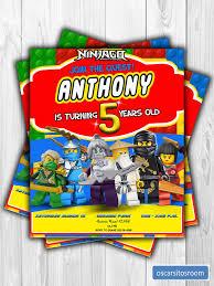Invitacion Digital Para Cumpleanos De Lego Ninjago De