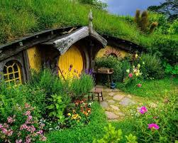 hobbits house cottage garden hd