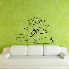 Amazon Com Wall Decal Flower Lotus Beauty Plant Longevity Luck Symbol Tibet M119 Handmade
