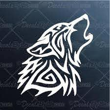 Tribal Wolf Decal Tribal Wolf Car Sticker Low Prices