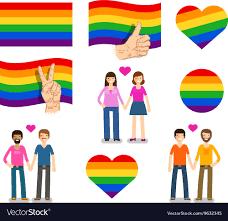 Symbol logo banner flag LGBT Lesbian Gay Vector Image