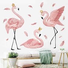 Large 14cm Flamingo Wall Stickers Vinyl Decals Nursery Girls Bedroom Decor Art