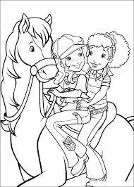Kids N Fun Kleurplaat Holly Hobbie Hollie Rijdt Paard