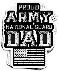 Amazon Com Hanabi 3 Pcs Stickers Proud Army National Guard Dad Us Military Us 4 3 Inch Die Cut Decals For Laptop Window Kitchen Dining