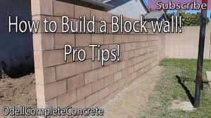 How To Build A Block Wall Diy 3 Youtube