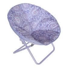American Kids Printed Faux Fur Saucer Chair Purple Medallion Hayneedle