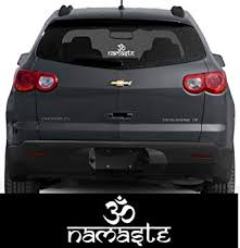 Amazon Com Ion Graphics Buddha Hindu Sticker Om Namaste Decal Window Bumper Automotive