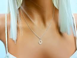 celestial necklace sterling silver sun