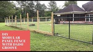 Part 1 Modular Hogwire Panel Fence With Dado Groove Youtube