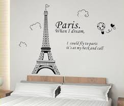 Paris Art Eiffel Tower Wall Stickers Quotes Bedroom Wall Stickers Home Decor Living Room Removable Decal Room Vinyl Background Sticker Quote Stickers Cactusstickers Nikon Aliexpress