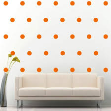 200 Of 2 Orange Polka Dots Circle Peel Stick Removable Wall Vinyl Decal Sticker For Sale Online