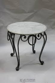 tables palais round sidetable small steel