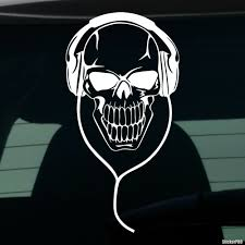 Decal Skull With Headphones 2 Buy Vinyl Decals For Car Or Interior Decal Factory Stickerpro Different Colors And Sizes Is Avalable Free World Wide Delivery