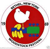 Woodstock Festival 1969 Round Bumper Sticker Dove Guitar Car Decal Logo 5 X5 Woodstock Festival Woodstock Bumper Stickers