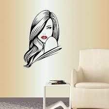 Wall Vinyl Decal Beautiful Woman Girl Face Fashion Beauty Shop Hair Salon 869 For Sale Online