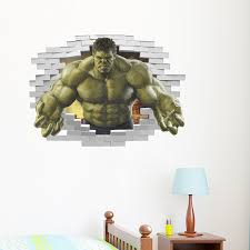 3d The Incredible Hulk Wall Sticker Removable Huge Decal Kids Home Decorative