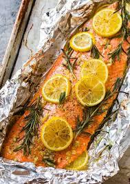 baked salmon in foil easy healthy recipe
