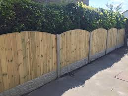 Fencing Panels In Concrete Fence Posts With Gravel Boards Concrete Fence Posts Concrete Fence Concrete Fence Panels