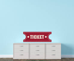 Carnival Ticket Wall Decal Vinyl Decal Car Decal Idcolor008 25 Inches Walmart Com
