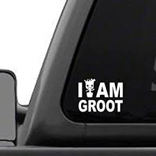 Amazon Com I Am Groot 4 Wide X 3 Tall Vinyl Decal For Windows Cars Trucks Tool Boxes Laptops And Tablets Automotive