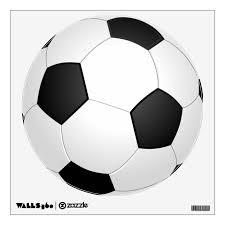 Black And White Soccer Ball Wall Decal Zazzle Com