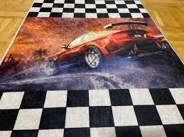 Sports Car Kids Room Rugs Woow Decor