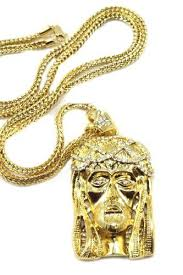 mens crowned large gold tone iced