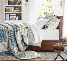 mackenna patchwork cotton quilt shams