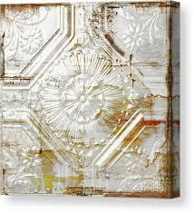 rusty tin ceiling tile canvas print