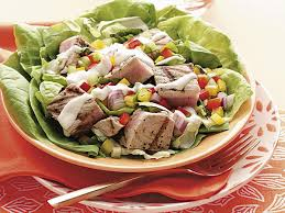 Grilled Tuna Bibb Salads Recipe