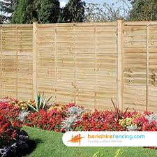 Lap Fence Panels 3ft X 6ft Brown Berkshire Fencing