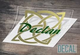 Celtic Knot Square With Name Decal Waterproof Decal Car Etsy