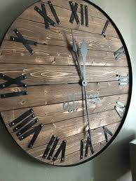 24 large farmhouse wooden wall clock