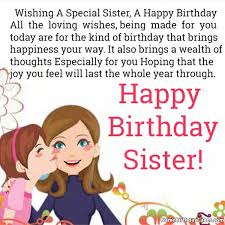 happy birthday wishes for sister with