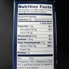 barilla penne pasta nutrition label