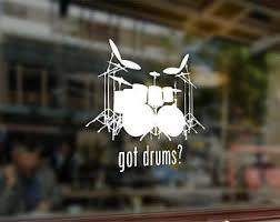 Drummer Car Decal Etsy