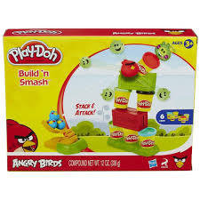 Play-Doh Angry Birds Build 'n Smash Game   Toys for Kids